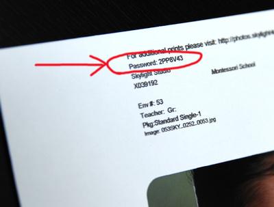 Env Password arrow